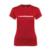 Ladies Syntrel Performance Red Tee-USA BMX w/Riders Between