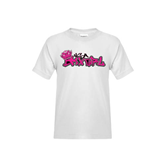 Youth White T Shirt-White USA BMX Girl