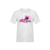 Youth White T Shirt-BMX Princess Girls Rule