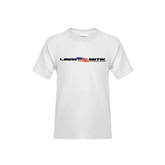 Youth White T Shirt-USA BMX w/Flag In Between