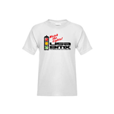 Youth White T Shirt-Watch the Lights!