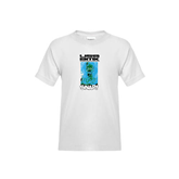 Youth White T Shirt-USA BMX Snap!