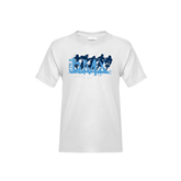 Youth White T Shirt-White USA BMX 5 Riders