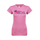 Next Level Ladies SoftStyle Junior Fitted Pink Tee-Pink USA BMX Girl