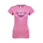 Next Level Ladies SoftStyle Junior Fitted Pink Tee-Motocross Mom