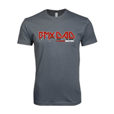 Next Level SoftStyle Charcoal T Shirt-USA BMX Rocker Dad Solid