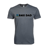 Next Level SoftStyle Charcoal T Shirt-BMX Dad