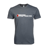 Next Level SoftStyle Charcoal T Shirt-Stacked BMX Canada w/Leaf