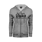 ENZA Ladies Grey Fleece Full Zip Hoodie-We R Family