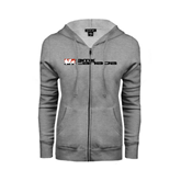 ENZA Ladies Grey Fleece Full Zip Hoodie-BMX Canada w/Riders