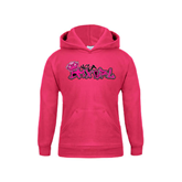 Youth Raspberry Fleece Hood-White USA BMX Girl