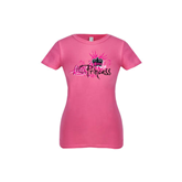 Youth Girls Fuchsia Fashion Fit T-Shirt-BMX Princess Girls Rule
