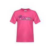 Youth Fuchsia T-Shirt-Pink USA BMX Girl