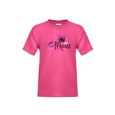 Youth Fuchsia T-Shirt-BMX Princess Girls Rule