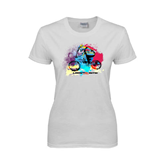 Ladies White T Shirt-United We Race