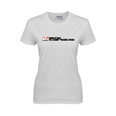 Ladies White T Shirt-BMX Canada w/Riders