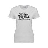 Ladies White T Shirt-We R Family