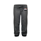 ENZA Ladies Dark Heather Banded Fleece Capri-Riders on Stacked USA BMX