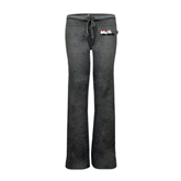 ENZA Ladies Dark Heather Fleece Pant-Stacked BMX Canada w/Riders