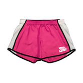 Ladies Fuchsia/White Team Short-Flag on Stacked USA BMX
