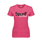Ladies Fuchsia T Shirt-BMX Grandma