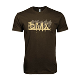 Next Level SoftStyle Brown T Shirt-USA BMX 5 Riders
