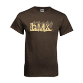 Brown T Shirt-USA BMX 5 Riders