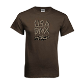 Brown T Shirt-Brown USA BMX Chain Letters