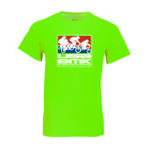 Neon Green T Shirt-Riders on Stacked USA BMX