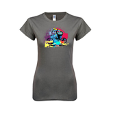 Ladies Softstyle Junior Fitted Charcoal Tee-United We Race