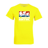 Neon Yellow T Shirt-Riders on Stacked USA BMX