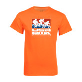 Neon Orange T Shirt-Riders on Stacked USA BMX