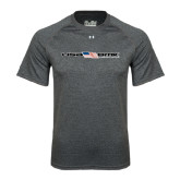 Under Armour Carbon Heather Tech Tee-USA BMX w/Flag In Between