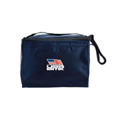Six Pack Navy Cooler-Flag on Stacked USA BMX