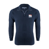 Navy Rib 1/4 Zip Pullover-Riders on Stacked USA BMX