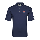 Under Armour Navy Performance Polo-Flag on Stacked USA BMX