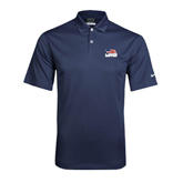 Nike Dri Fit Navy Pebble Texture Sport Shirt-Flag on Stacked USA BMX