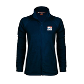 Ladies Fleece Full Zip Navy Jacket-Riders on Stacked USA BMX