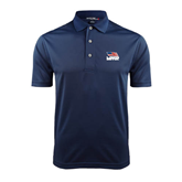 Navy Dry Mesh Polo-Flag on Stacked USA BMX