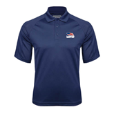 Navy Textured Saddle Shoulder Polo-Flag on Stacked USA BMX