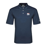 Nike Golf Dri Fit Navy Micro Pique Polo-Riders on Stacked USA BMX