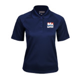 Ladies Navy Textured Saddle Shoulder Polo-Riders on Stacked USA BMX