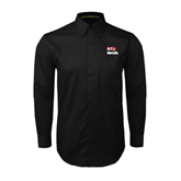 Black Twill Button Down Long Sleeve-Riders on Stacked BMX Canada