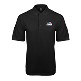 Black Easycare Pique Polo-Flag on Stacked USA BMX