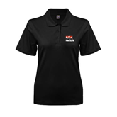 Ladies Easycare Black Pique Polo-Riders on Stacked BMX Canada