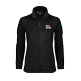 Ladies Fleece Full Zip Black Jacket-Riders on Stacked BMX Canada
