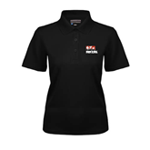 Ladies Black Dry Mesh Polo-Riders on Stacked BMX Canada