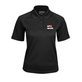 Ladies Black Textured Saddle Shoulder Polo-Riders on Stacked BMX Canada