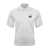 White Textured Saddle Shoulder Polo-Riders on Stacked USA BMX