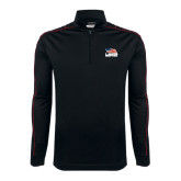 Nike Golf Dri Fit 1/2 Zip Black/Red Cover Up-Flag on Stacked USA BMX